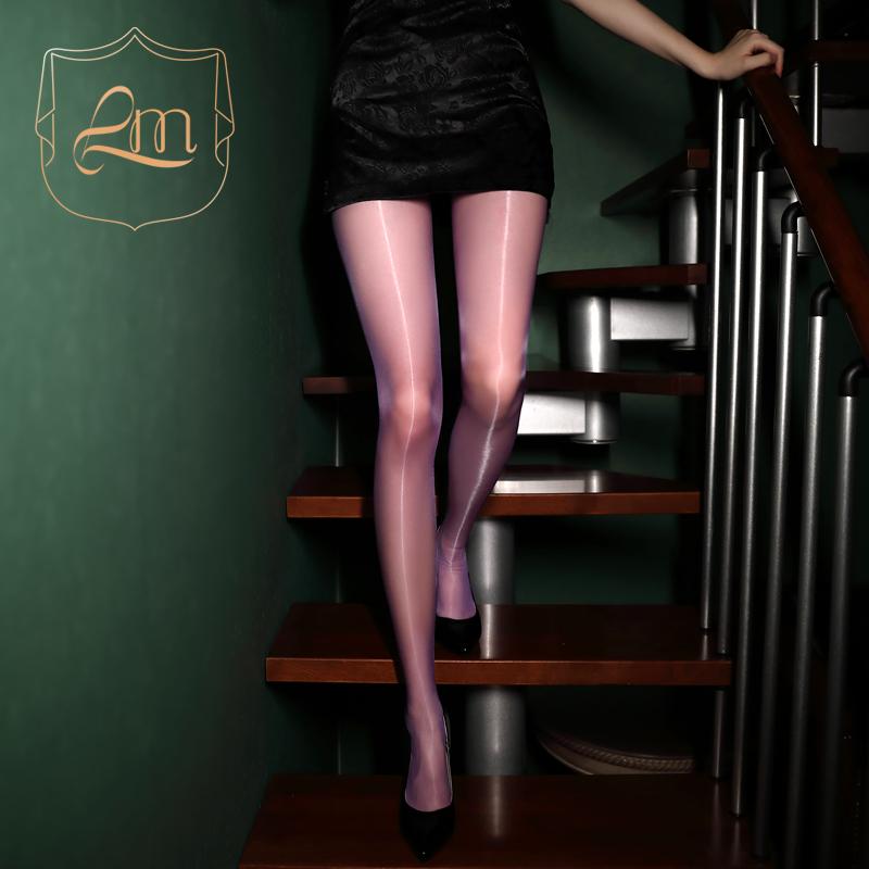 涞觅极光系列丝滑油亮无缝丝袜夏季黑色性感油光无痕超薄款连裤袜