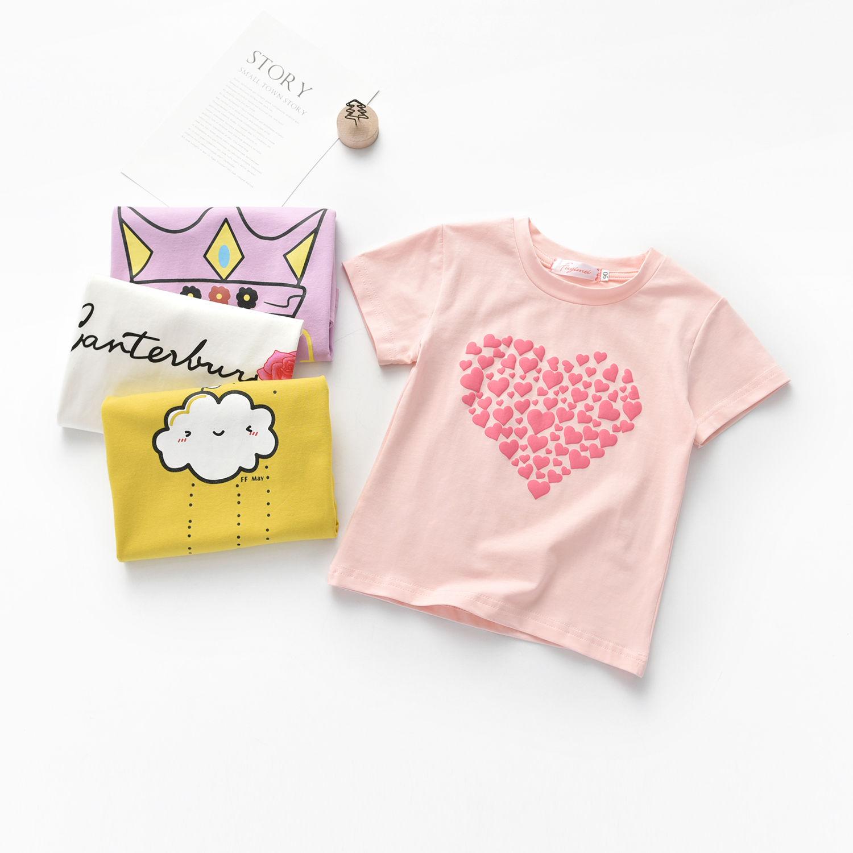 2020新款短袖T恤纯棉奥戴尔夏季中小儿童圆翻领宝宝体恤女童韩潮