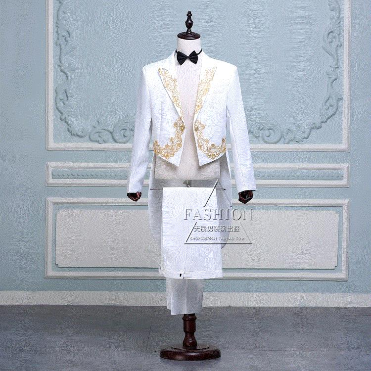 2019 mens tuxedo chorus suit inlaid suit