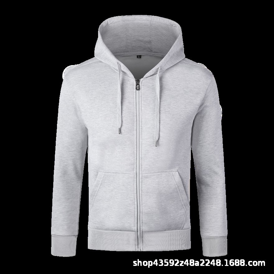 Chao2020 autumn and winter new fashion leisure Pure Cotton Hooded cardigan zipper mens sweater Custom T-Shirt