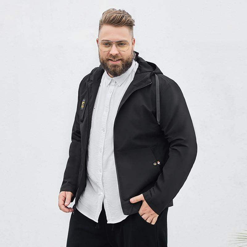 Counter brand fat brother mens jacket spring and autumn thin trend handsome casual fat mens coat large