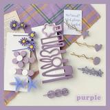 2件包邮~香芋紫色系发夹少女心侧边夹春夏花朵百搭碎发刘海夹发卡