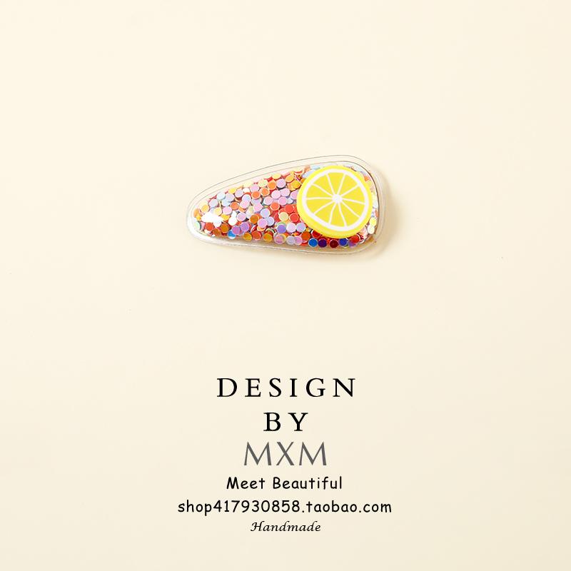 泫雅风~糖果色夹子少女韩国成人流沙水果发夹儿童发卡可爱bb侧边限时抢购