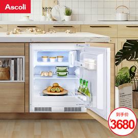 意大利嵌入式冰箱家用卧式冰箱定制柜子小型超薄内嵌台下橱柜隐藏图片