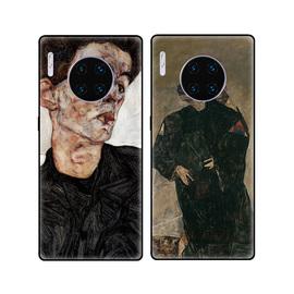 席勒自画像艺术油画冷淡风适用华为mate30手机壳mate30Pro软壳图片