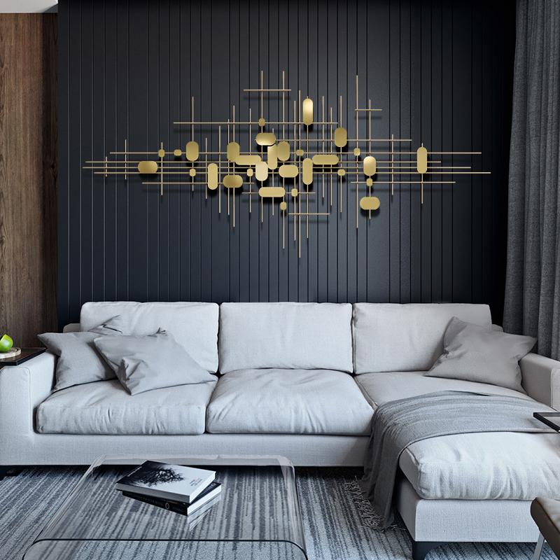 墙面装饰挂件客厅沙发背景墙挂件墙上装饰品金属轻奢现代铁艺壁饰