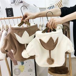男女童加绒卫衣韩版小女童上衣冬装保暖洋气外套儿童加厚童装