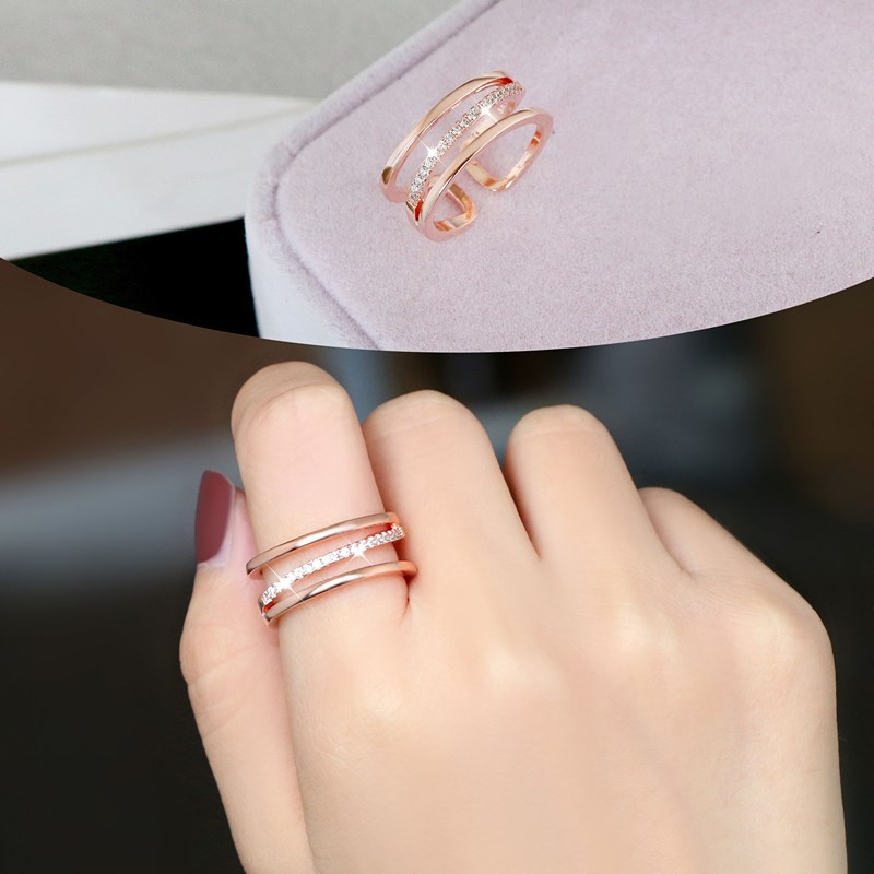 戒指女日韩国学生时尚开口戒子复古夸张装饰品大气潮人个姓食指环