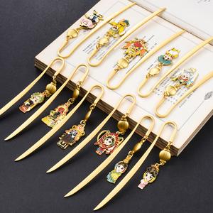 京剧戏曲脸谱Q版书签 创意金属中国风商务文化礼品书签 个