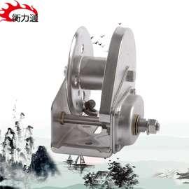 手动铰盘304不锈钢手摇葫芦吊运机卷扬双向自锁型绞车矿用小绞盘