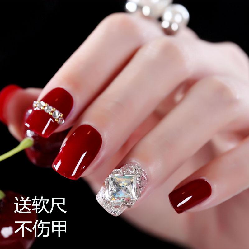 (用16.63元券)孜甲花网红穿戴式成品可自由假指甲