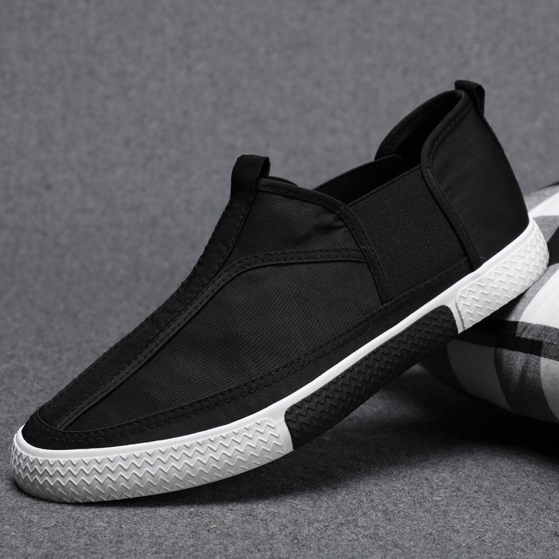 2021 spring mens shoes Korean casual canvas shoes new breathable flat bottom solid color board shoes fashionable shoes 38 high top shoes