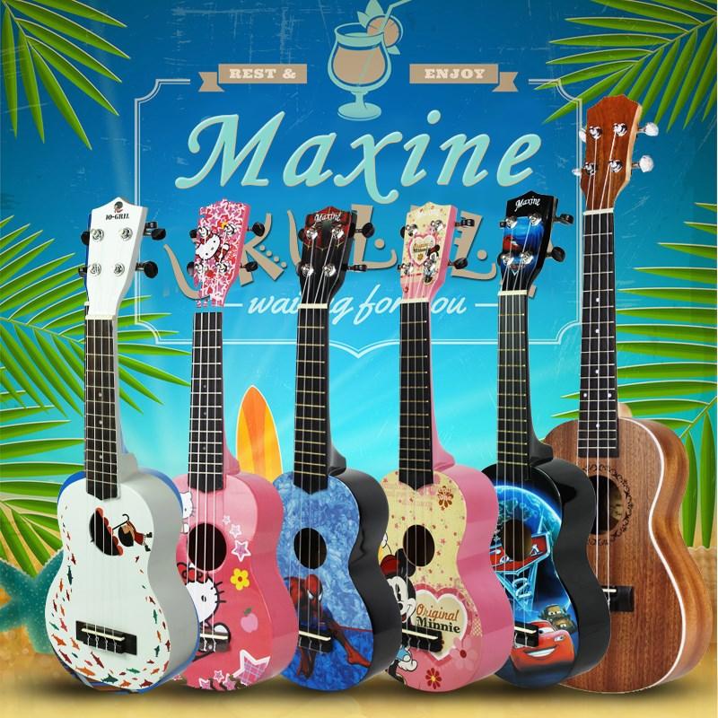 UK-夏威夷尤克里里21寸300初学者儿童卡通乌克丽丽四弦琴