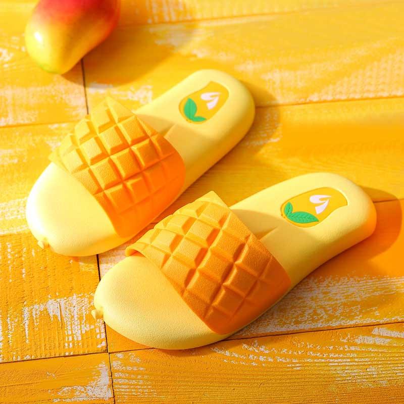 10-20新券可爱芒果女夏室内家用韩版潮凉拖鞋