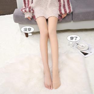 光腿裸感神器女春秋薄款冬超自然早加绒加厚肉色打底裤连裤袜丝袜品牌