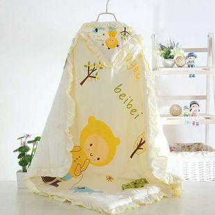 婴儿抱被 宝宝抱毯 纯 子 宝宝披风 婴童睡袋棉 新生儿包被 儿童价格