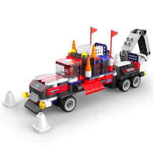 布鲁可大颗粒积木车拼插重型卡车百变布鲁克拼装玩具男孩非乐高