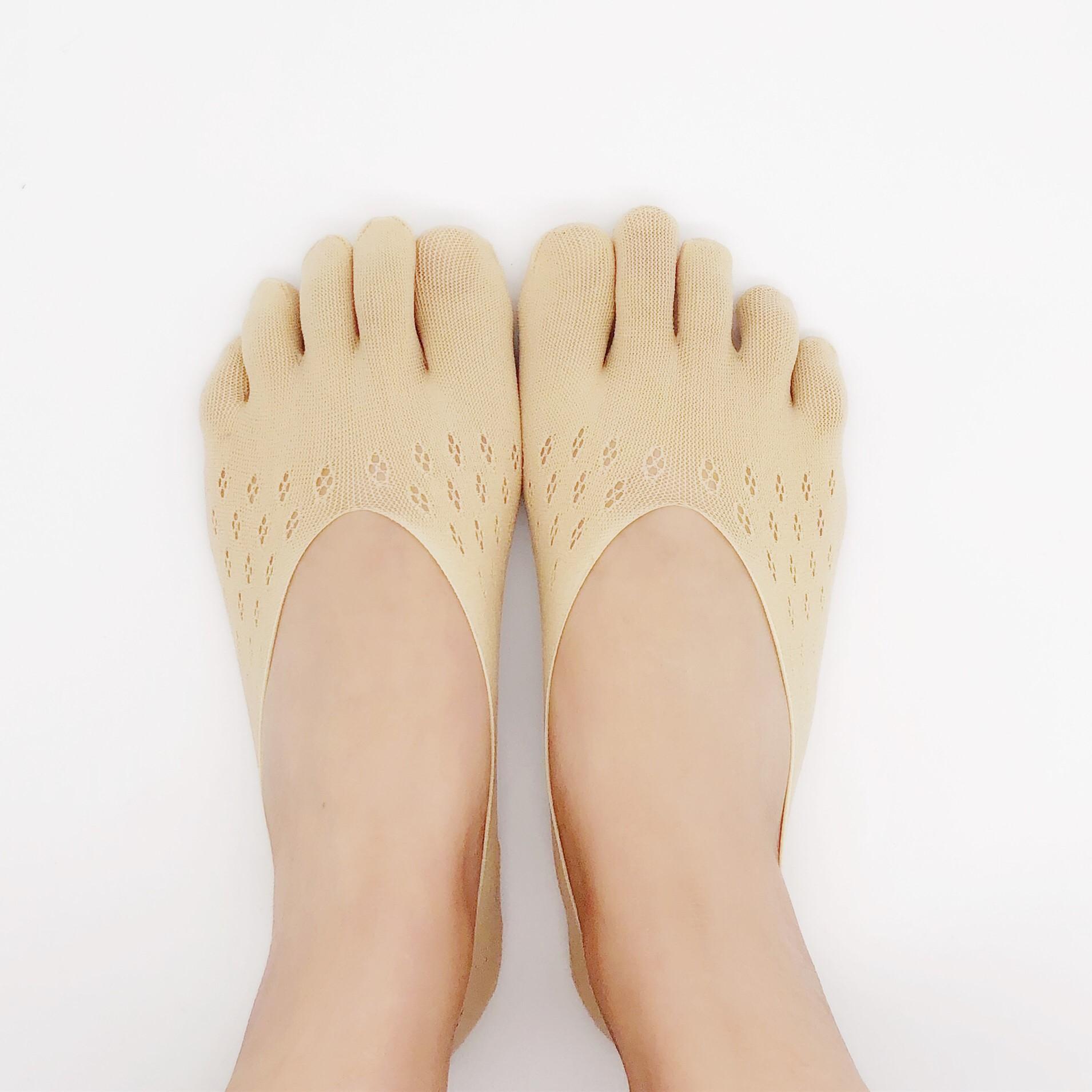 五指袜薄优质全新款 硅胶分脚趾浅口隐形五指船女只包脚趾的袜子