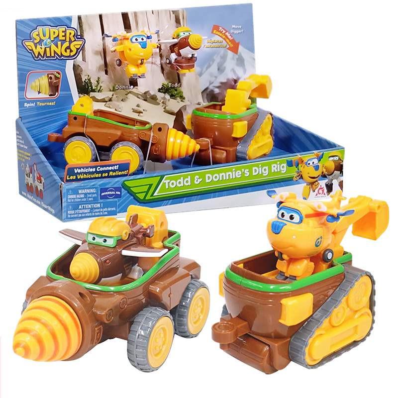 套装飞侠场景正版超级第五季团队金刚钻头车小挖矿探险车儿童玩具