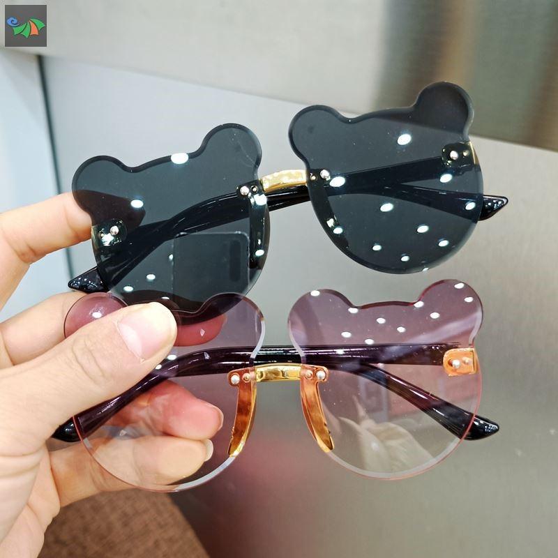 中國代購 中國批發-ibuy99 太阳镜 造型拍照儿童眼镜太阳镜防紫外线男女童时尚可爱宝宝小熊耳朵墨镜