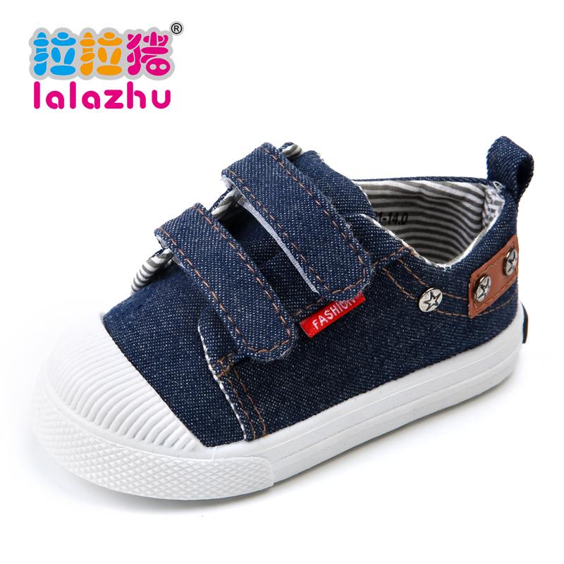 2016春秋兒童帆布鞋單鞋男童女童寶寶球鞋小童鞋子板鞋牛仔魔術貼