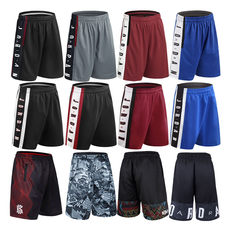 Basketball pants over knee basketball pants mens shorts AJ23 summer loose running over knee quick dry sports five point pants