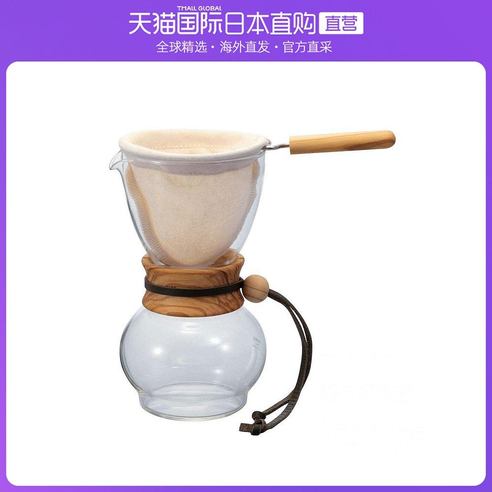 日本直邮HARIO咖啡滴头绒布滴水锅木颈橄榄木34杯用DPW-3-OV