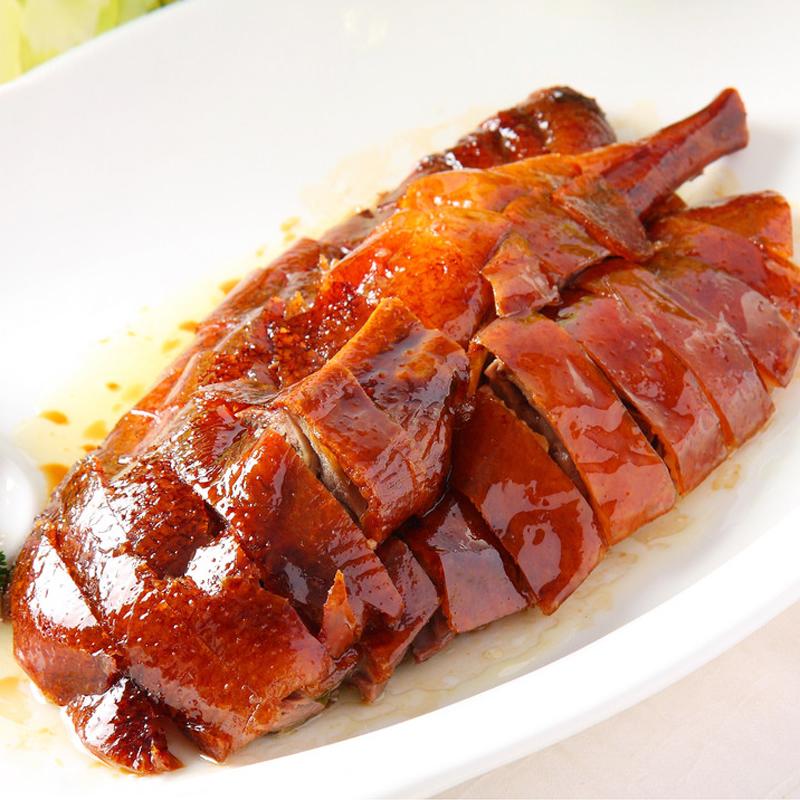 禄米仓脆皮烧鹅聚餐广东粤菜 农家鹅 整只约3.6斤父亲节好礼顺丰