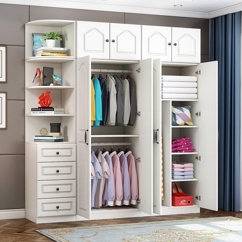 组装卧室空间现代简约衣柜衣橱省实木家用经济型板式柜子定制组装1056.00元包邮