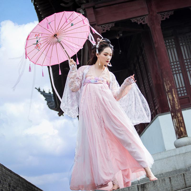 238.00元包邮汉服中国风女学生超仙气大袖衫樱花