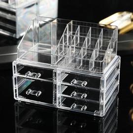 亚克力化妆品收纳盒透明抽屉式口红整理盒宿舍梳妆台卫生间置物架