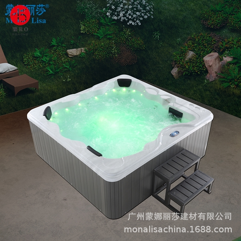 蒙娜丽莎卫浴家用豪华户外全自动智能恒温冲浪按摩超大型情趣浴缸