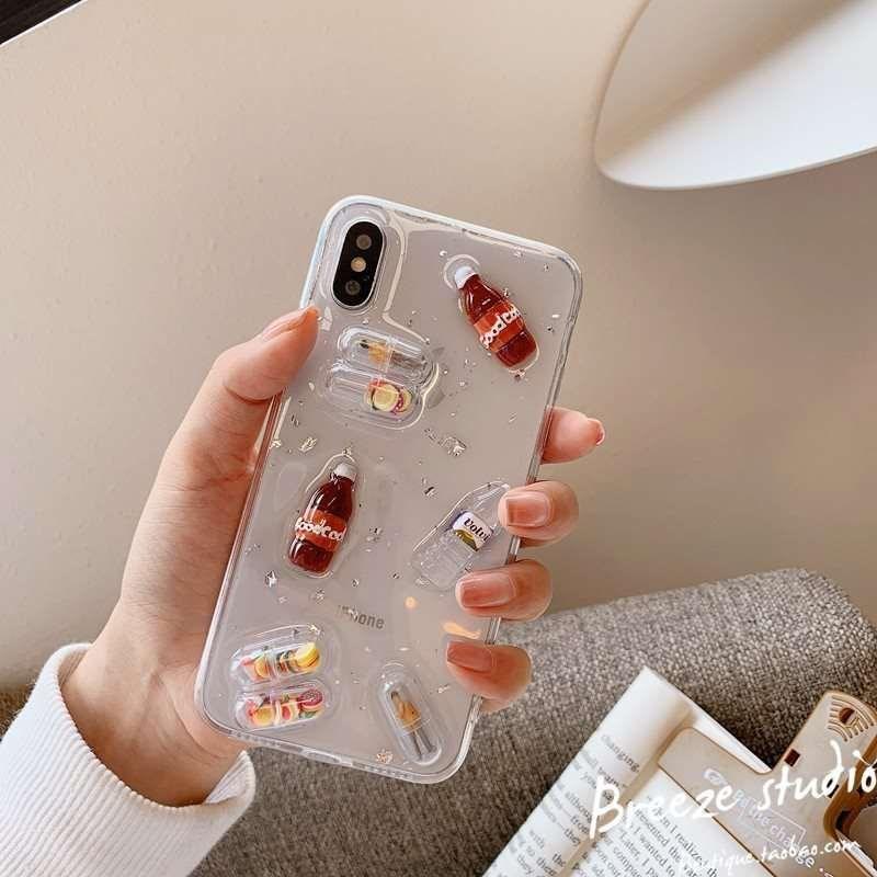 11月08日最新优惠乔英子同款手机壳胶囊oppo苹果华为不熬夜的网红药丸创意个性透明
