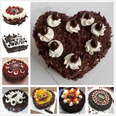 水果巧克力黑森林生日蛋糕同城北京上海广州深圳杭州重庆全国配送