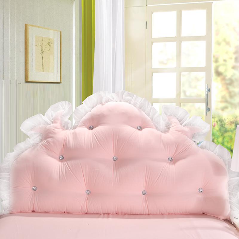 有赠品2019床头靠垫双人抱枕儿童榻榻米长靠枕公主风软包靠背床上大靠背