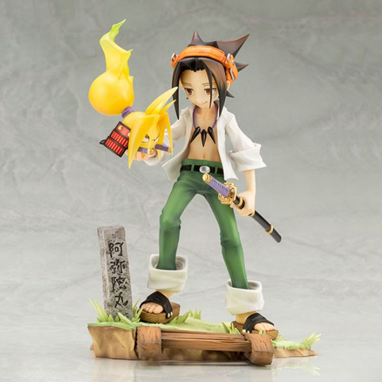 Shaman King makang leaf Yoh ASAKURA 20th anniversary box made model 18cm