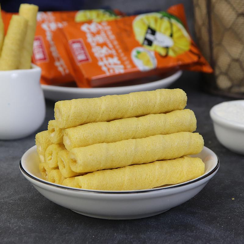 真好意手工鸡蛋菠萝蜜注心蛋卷早餐食品膨化饼干零食222支包邮,可领取2元天猫优惠券