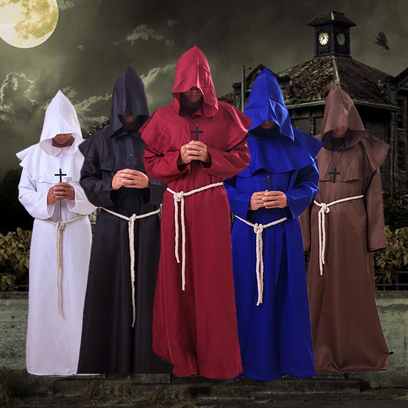丨万圣节中世纪女巫装巫婆装牧师装黑长袍COPLY电影动漫演出服装