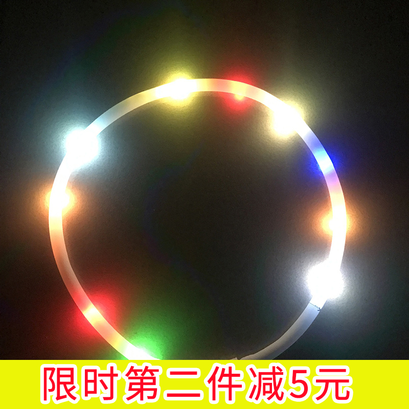 New lost proof and traffic accident proof dog led round tube waterproof luminous collar pet products
