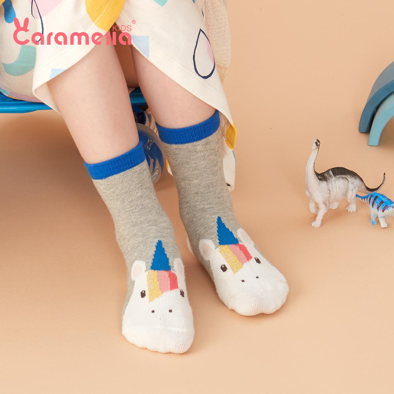Caramela baby, newborn baby, children's socks, spring and autumn pure cotton middle tube socks, cute and super cute boys and girls