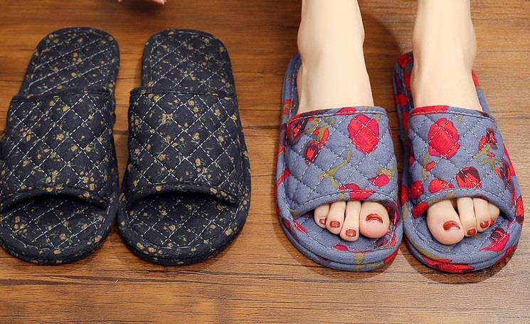 四季亚麻拖鞋居家居情侣拖鞋春秋季地板拖鞋男女室内布底拖鞋吸汗