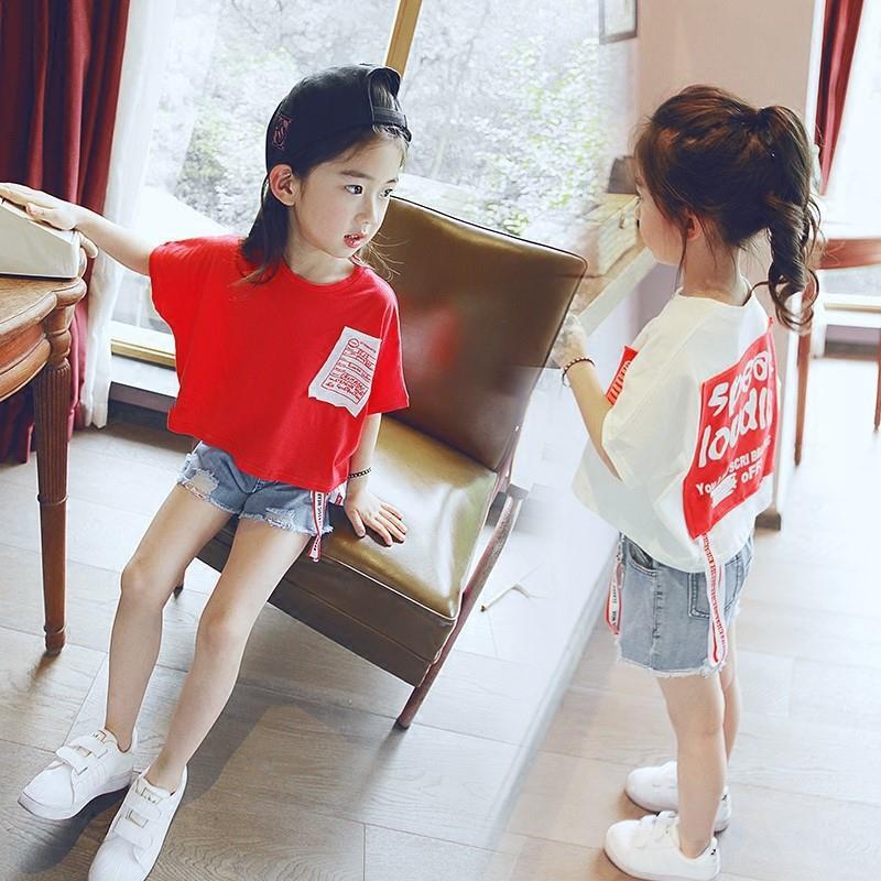 中童半袖洋气夏装宽松休闲嘻哈t恤11月29日最新优惠