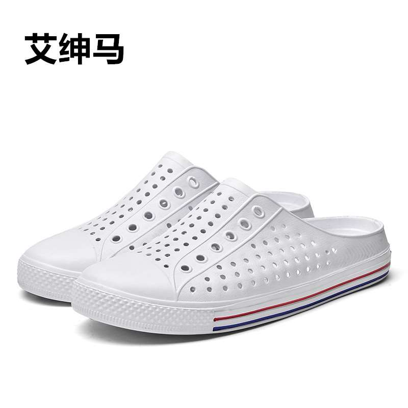 Small 36 plastic mens shoes 37 rafting and drainage quick dry sandals men wading 38 yards water land slippers mens summer