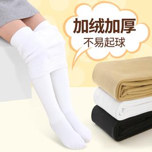 2019春秋新款中厚薄绒女童打底裤加绒加暖连体丝儿童袜子0到16岁