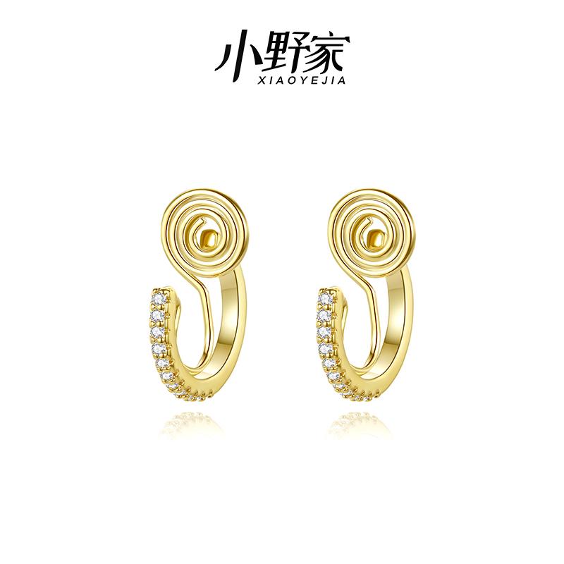 Onos family wears earrings, feminine temperament, simple ear clip, no ear hole, female advanced feeling, painless earrings, earrings, earrings, advanced feeling
