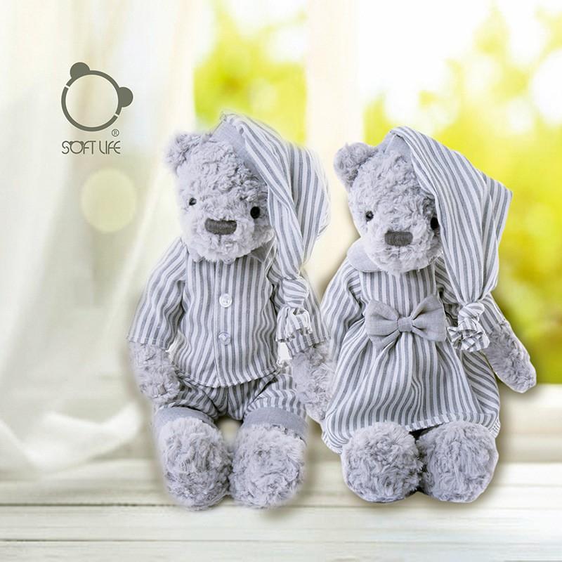 新款睡衣熊毛绒玩具宝宝安抚玩偶女友生日礼物儿童陪睡公仔