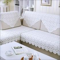 。长方形冬季床头家居简易沙发靠背巾蕾丝防滑方巾欧式后背发垫田