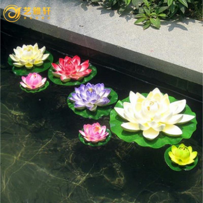 仿真荷花 睡莲 莲花 水池装饰花 客厅假荷花 道具摆设