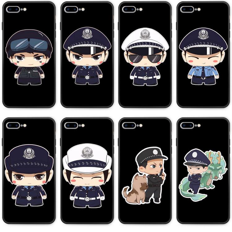 适用红米K20手机壳k30pro6全包套钢化玻璃套交通警方小警察POLICE