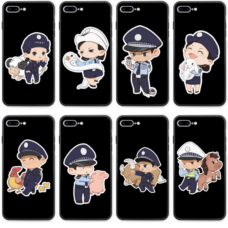Suitable for Huawei glory 8A mobile phone case 7a / 7C to play 7x / 8C military case traffic police police